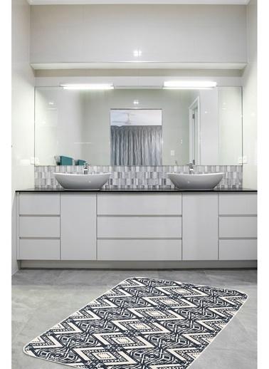 Hamur Alien 75x125 cm Banyo Paspası Kaymaz Taban Banyo Halısı Lacivert